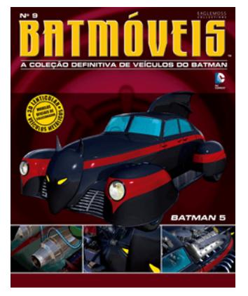 Miniatura Batman #5 Batmóveis Edição 9 1/43 Eaglemoss