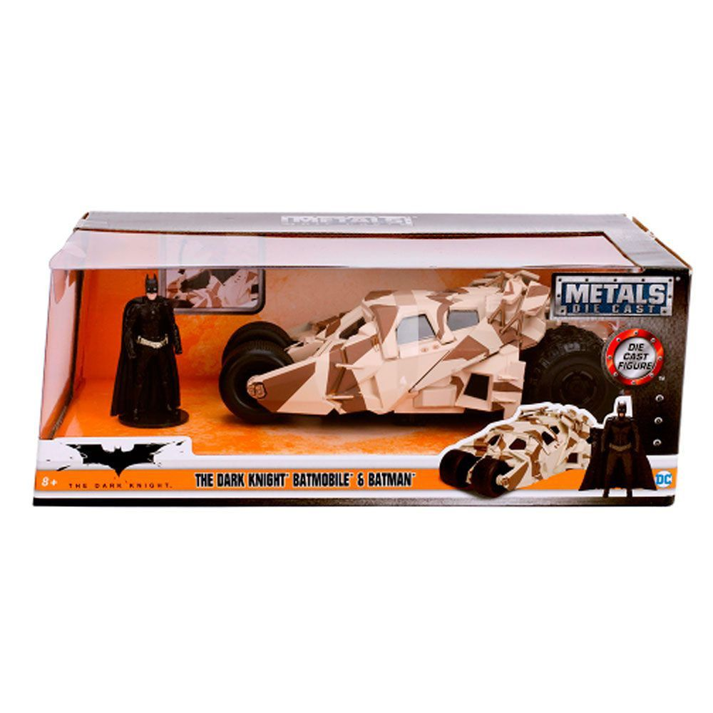 Miniatura Batmovel 2009 Dark Knight com Boneco 1/24 Jada Toys