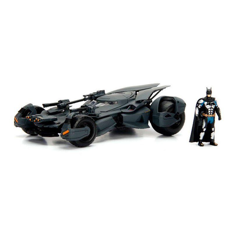 Miniatura Batmovel 2017 Liga da Justiça com Boneco 1/24 Jada Toys