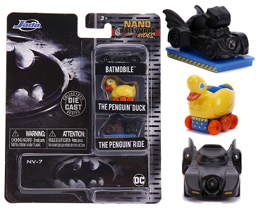 Miniatura Batmovel Hollywood Rides Batman 3 Nano Jada Toys