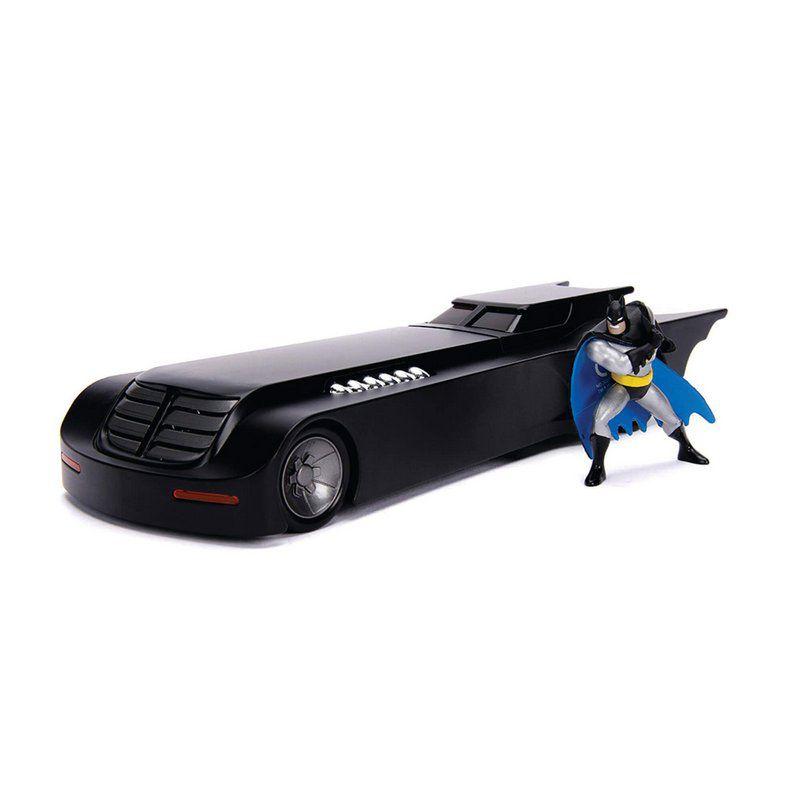 Miniatura Batmovel Série Animada com Boneco 1/24 Jada Toys