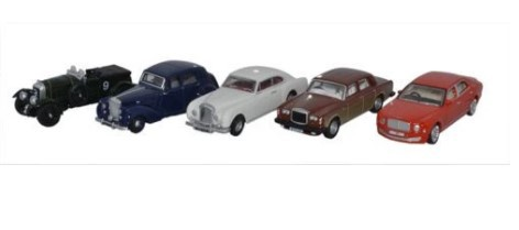 Miniatura Bentley Set 5 Pieces 1/76 Oxford