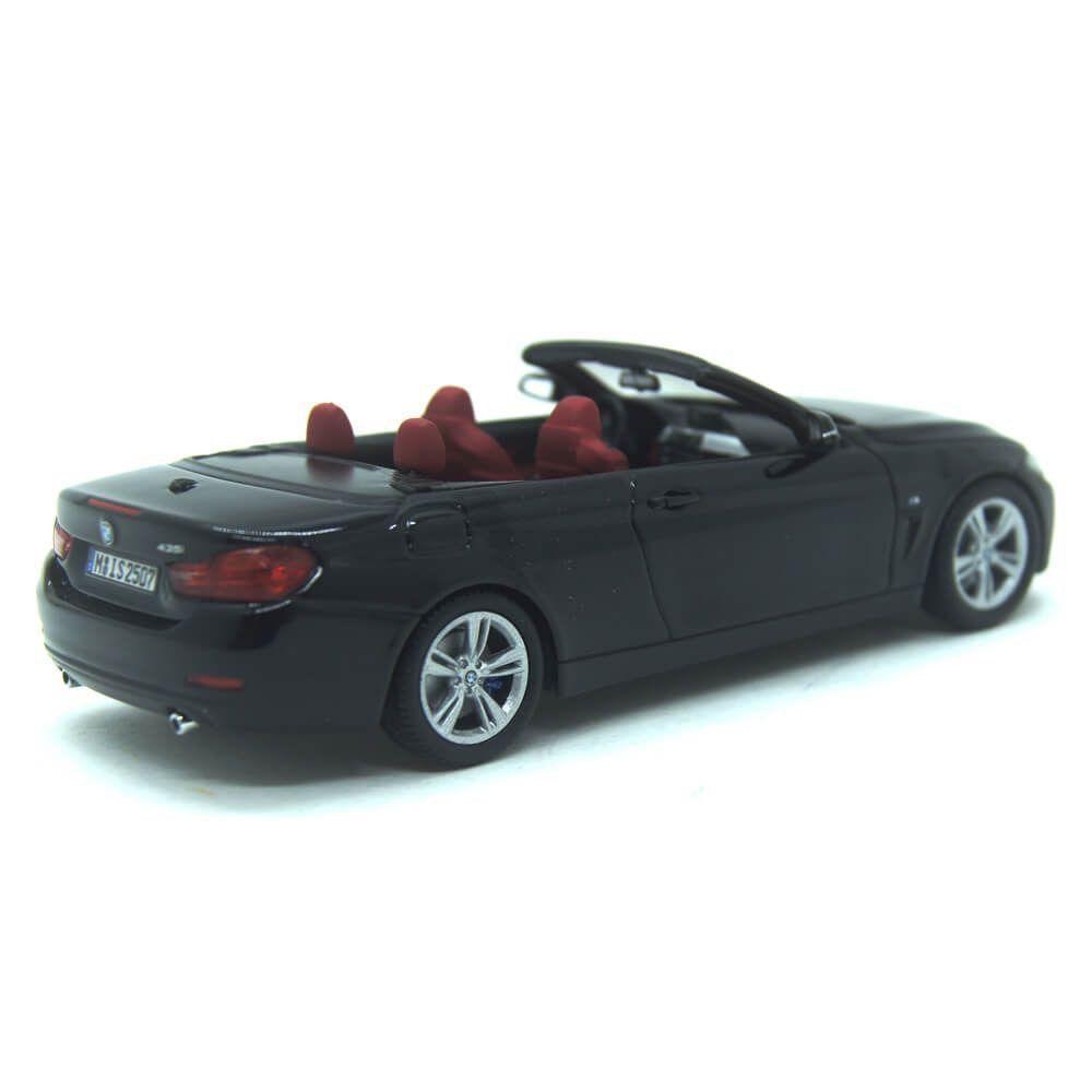 Miniatura BMW 4 Series 435i Cabriolet 2014 Preto 1/43 Paragon