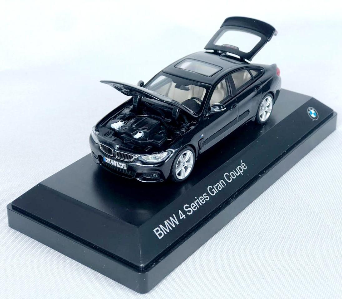 Miniatura BMW Serie 4  Gran Coupe Preta 1/43 Paragon