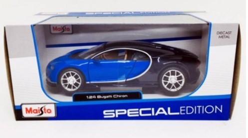 Miniatura Bugatti Chiron Azul 1/24 Maisto