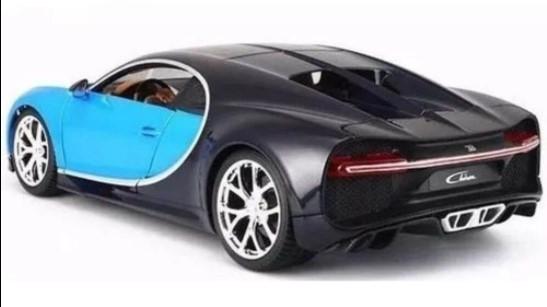 Miniatura Bugatti Chiron Plus Azul 1/18 Bburago