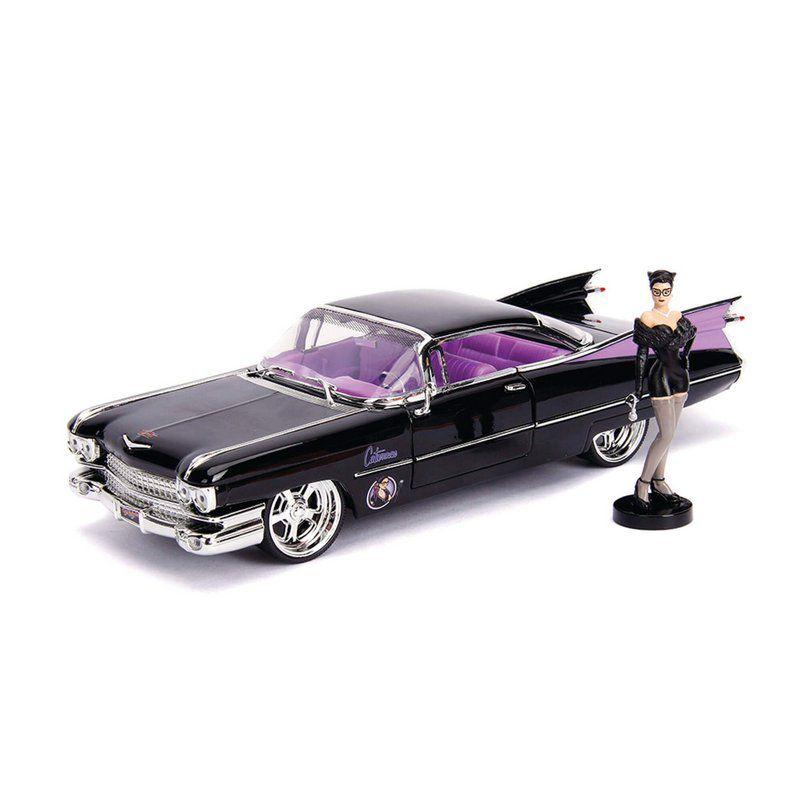 Miniatura Cadillac Coupé Deville 1959 Mulher Gato 1/24 Jada Toys