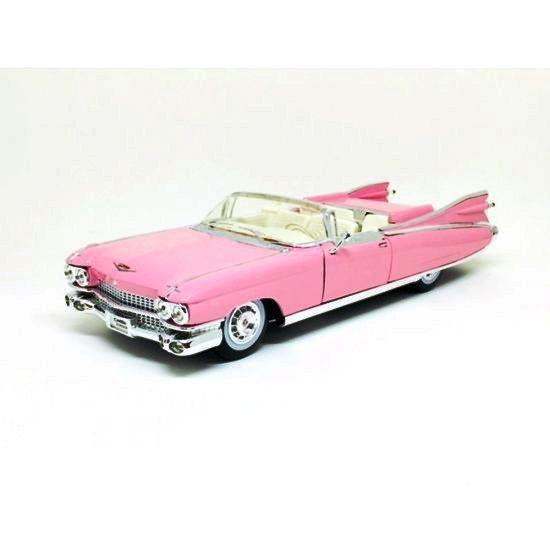 Miniatura Cadillac Eldorado Biarritz 1959 Rosa 1/18 Maisto Premiere Edition