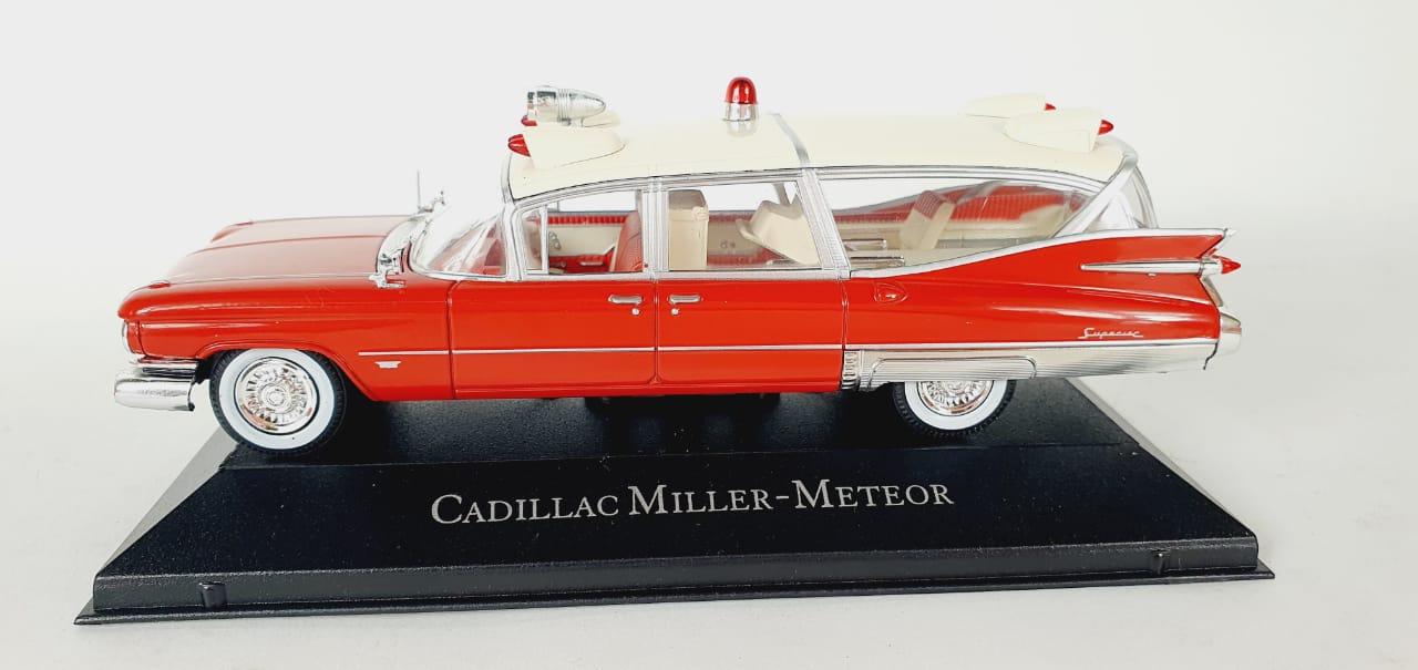 Miniatura Cadillac Miller Meteor Ambulância 1/43 Atlas