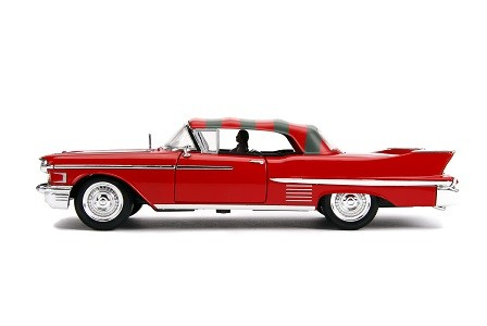 Miniatura Cadillac Series 62 1958 Freddy Krueger com Boneco 1/24 Jada Toys