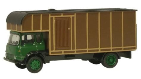 Miniatura Caminhão Bedford TK HorseboxGreen/Brown 1/76 Oxford