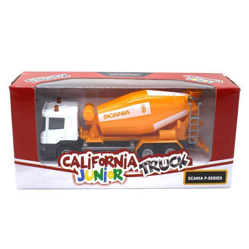 Miniatura Caminhão Betoneira Scania P 1/64 California Junior Truck