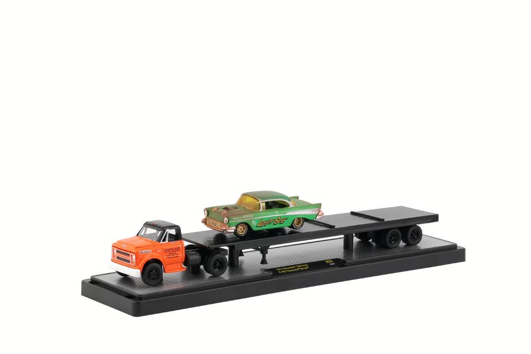Miniatura Caminhão Chevrolet C60 1971 & Chevrolet Bel Air 1957 1/64 M2