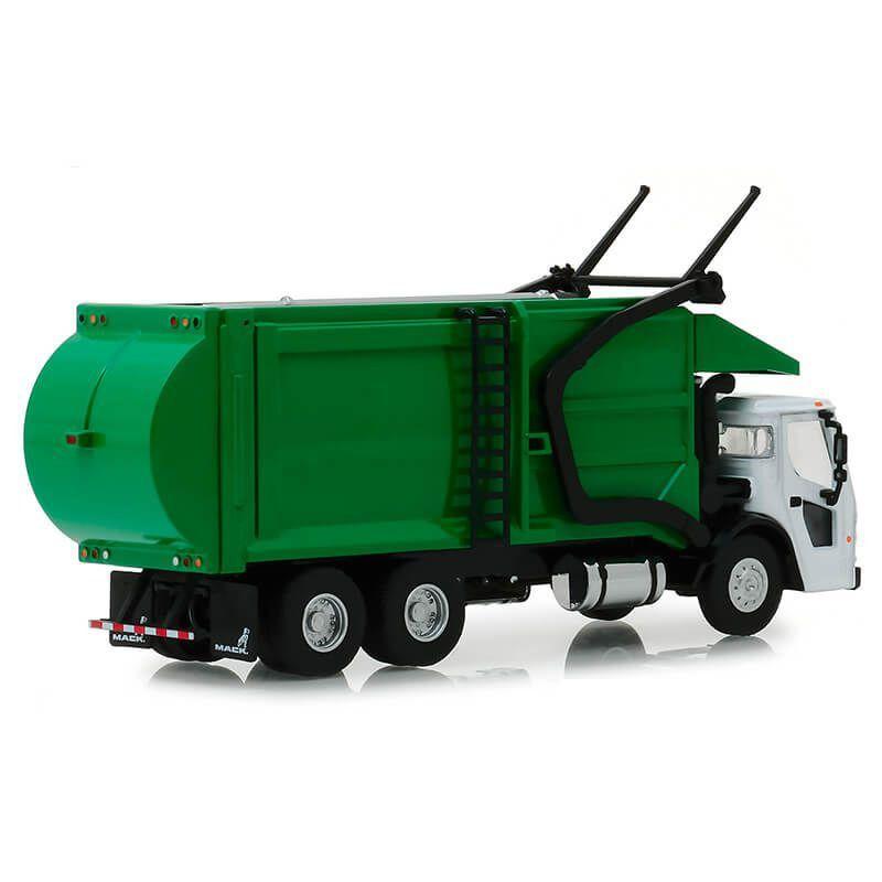 Miniatura Caminhão de Lixo Mack LR Refuse 2019 SD Trucks Serie 6 1/64 Greenlight