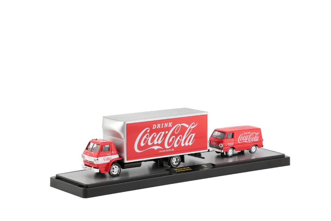 Miniatura Caminhão Dodge L600 COE 1969 e Van Dodge A100 1964 Coca Cola 1/64 M2