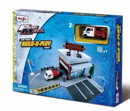 Miniatura Caminhão Garage Build-n-Play 1/64 Maisto