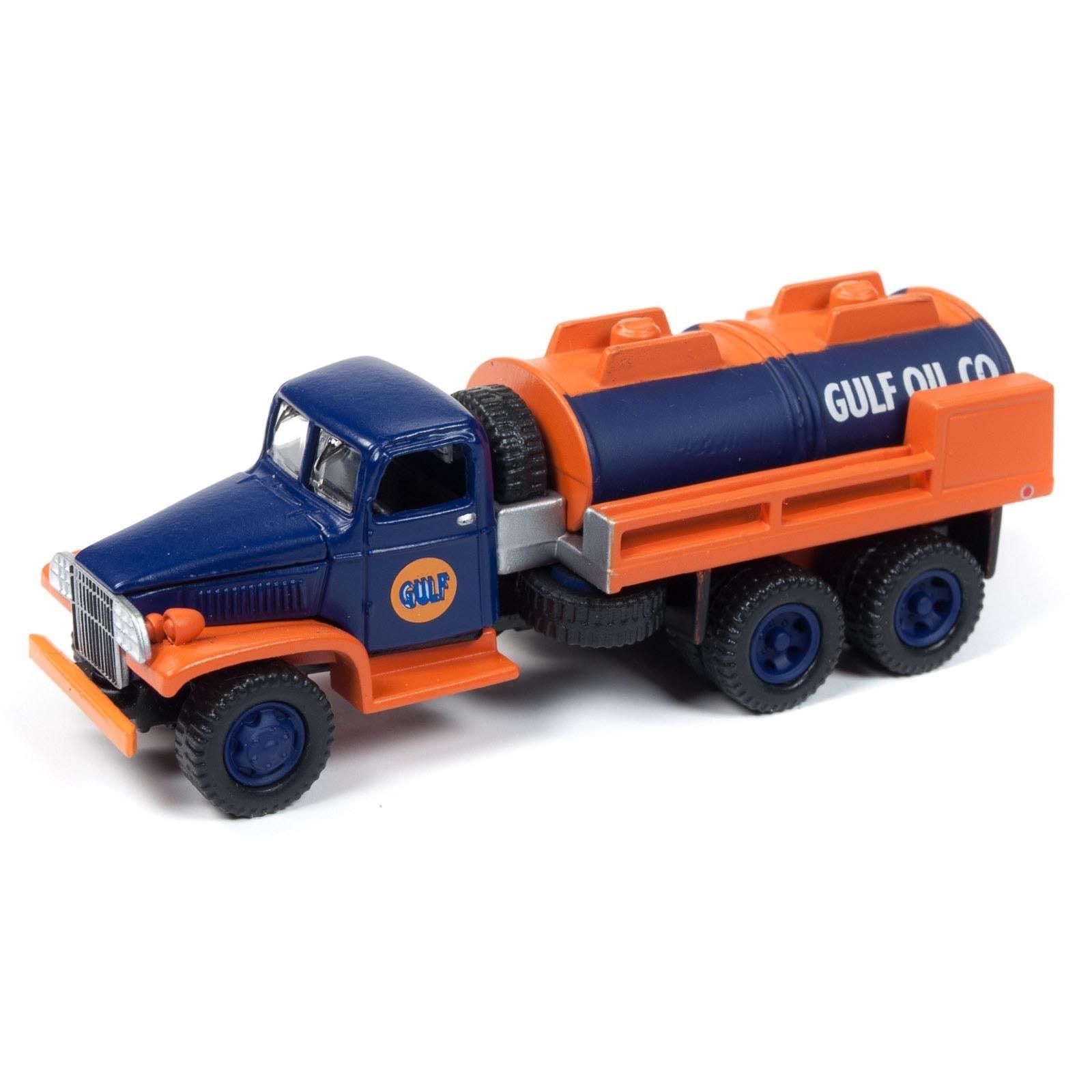 Miniatura Caminhão GMC CCKW 6X6 Tanker 1/64 Johnny Lightning
