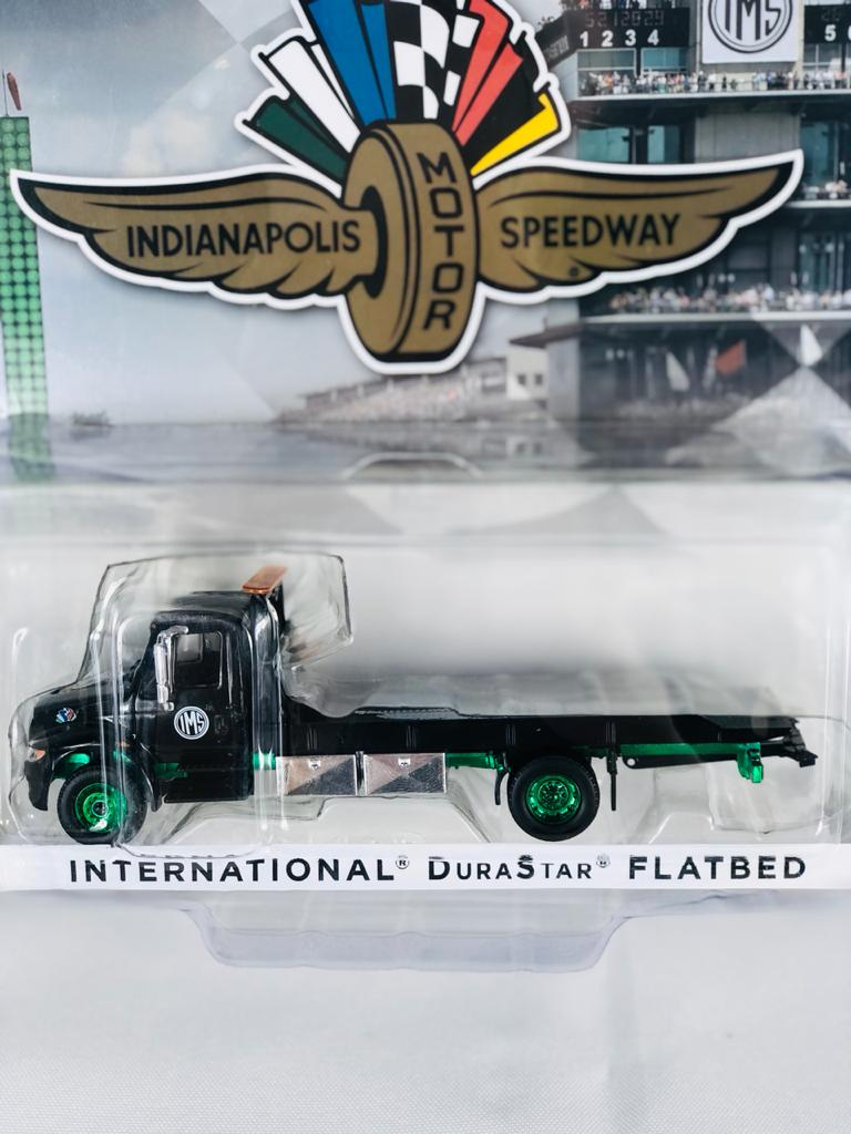 Miniatura Caminhão International Durastar 2019 Indianapolis Guincho 1/64 Greenlight Greenmachine