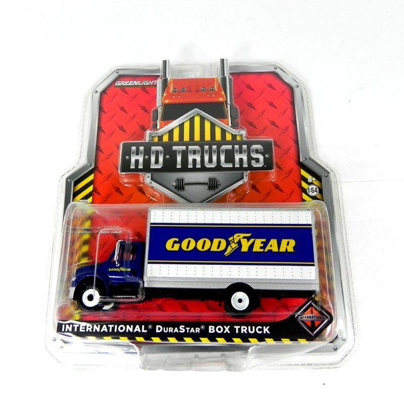 Miniatura Caminhão International Durastar Box Truck Goodyear 1/64 Greenlight HD Trucks