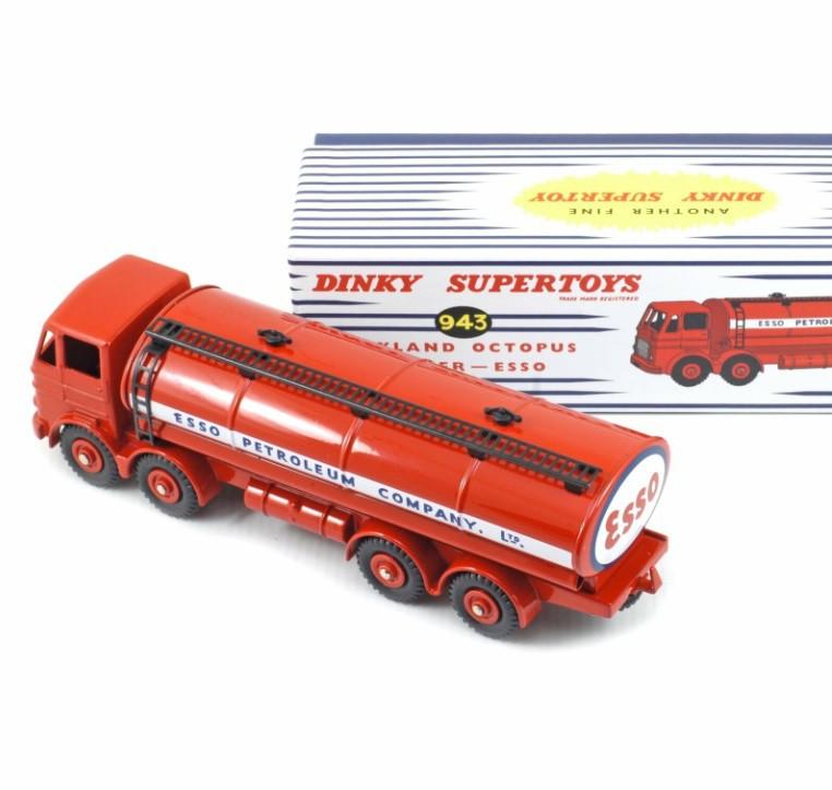 Miniatura Caminhão Leyland Octopus Tanker Esso 1/43 Dinky Toys