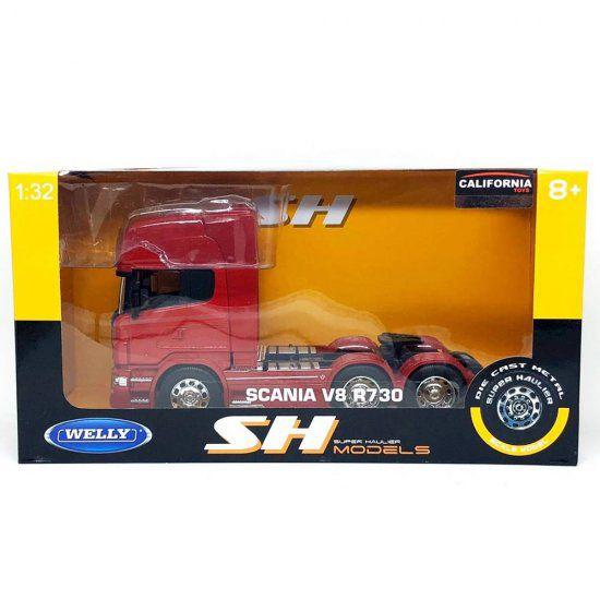 Miniatura Caminhão Scania V8 R730 6x4 1/32 Welly