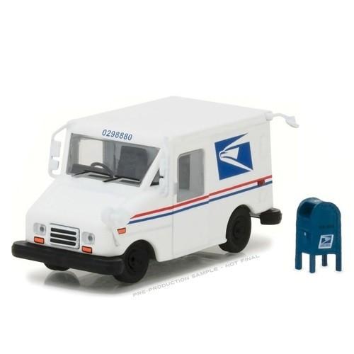 Miniatura Caminhão USPS LLV with Mailbox 1/64 Greenlight