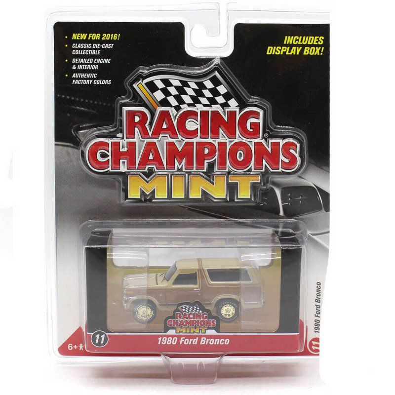 Miniatura CHASE GOLD Ford Bronco 1980 A 1/64 Racing Champions