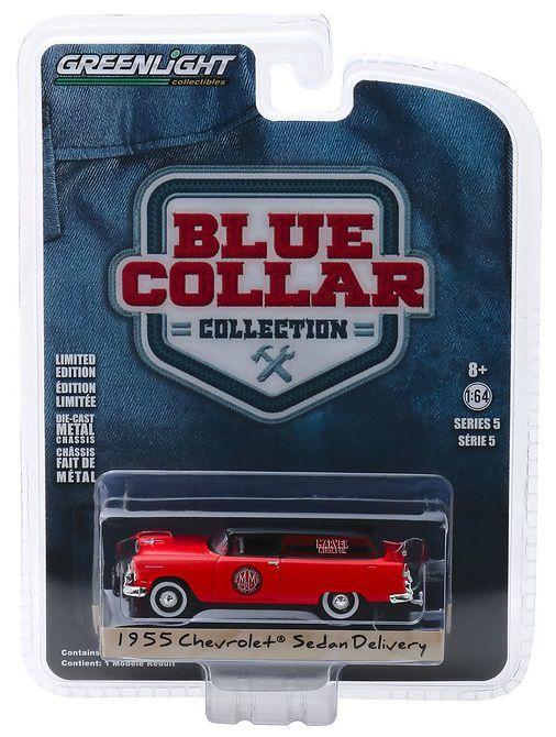 Miniatura Chevrolet 1955 Sedan Marvel Oil  1/64 Greenlight