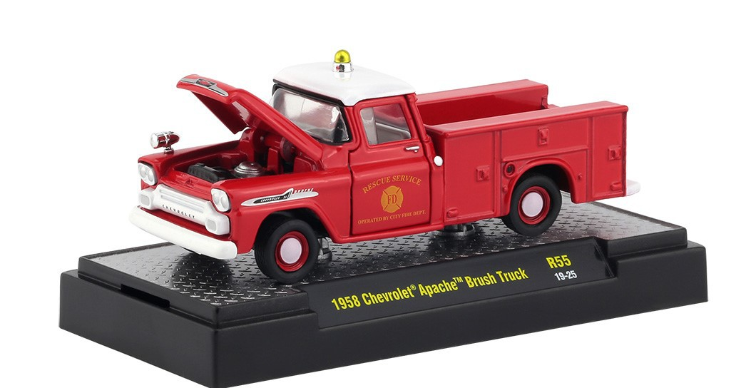 Miniatura Chevrolet Apache Brush Pick Up 1958 1/64 M2