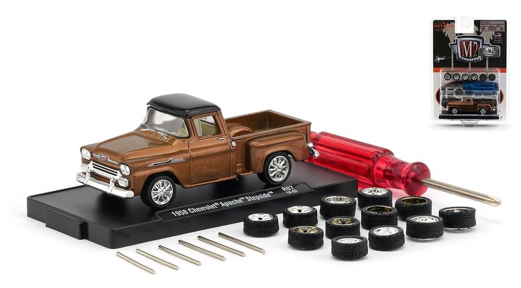 Miniatura Chevrolet Apache Stepside 1958 Troca Rodas 1/64 M2