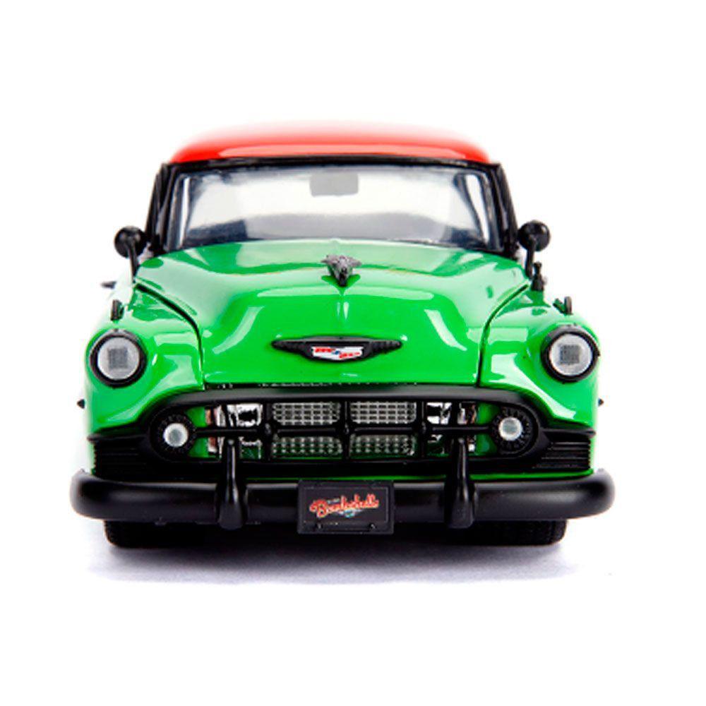 Miniatura Chevrolet Bel Air 1953 Hera Venenosa com Boneco 1/24 Jada Toys