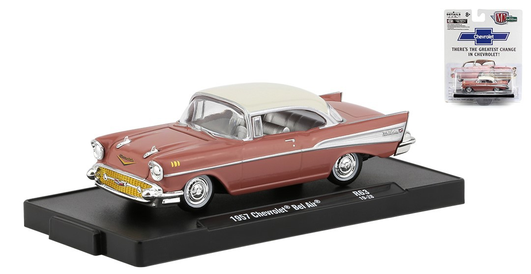 Miniatura Chevrolet Bel Air 1957 1/64 M2