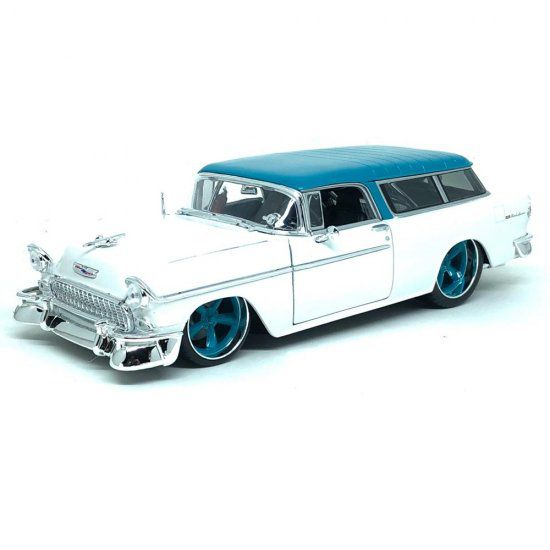 Miniatura Chevrolet Bel Air Nomad 1955 1/18 Maisto