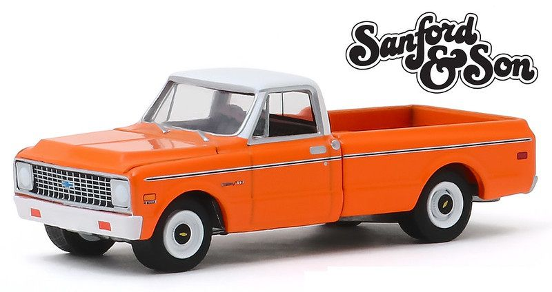 Miniatura Chevrolet C-10 1971 Sanford & Sun 1/64 Greenlight