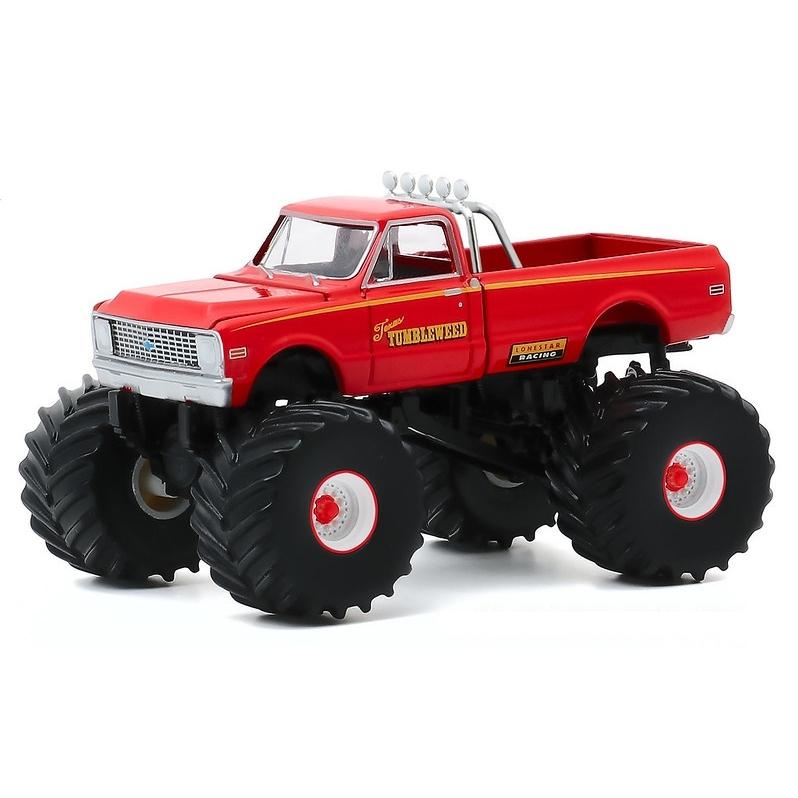 Miniatura Chevrolet C-10 1972 Big Foot Monster Truck 1/64 Greenlight