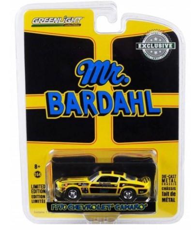 Miniatura Chevrolet Camaro 1970 Mr. Bardahl Limited Edition1/64 Greenlight