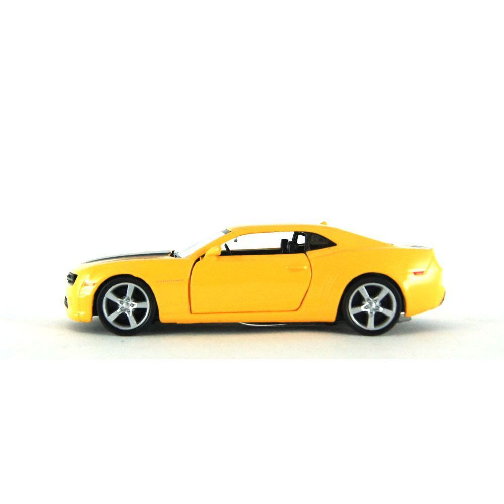 Miniatura Chevrolet Camaro Amarelo Luz e Som 1/32 Hot Wheels