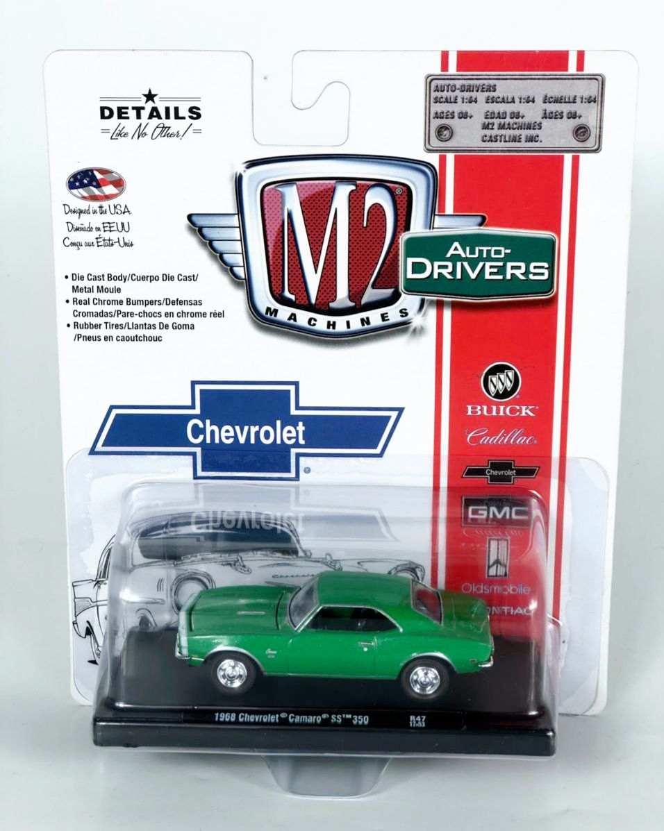 Miniatura Chevrolet Camaro SS 1968  1/64 M2 Machines