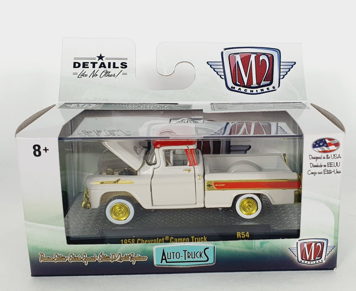 Miniatura Chevrolet Cameo Truck 1958 1/64 M2 CHASE