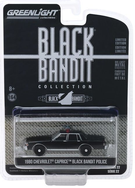 Miniatura Chevrolet Caprice 1980 Black Bandit 1/64 Greenlight