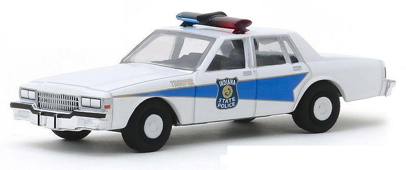 Miniatura Chevrolet Caprice 1986 Polícia Hot Pursuit 1/64 Greenlight