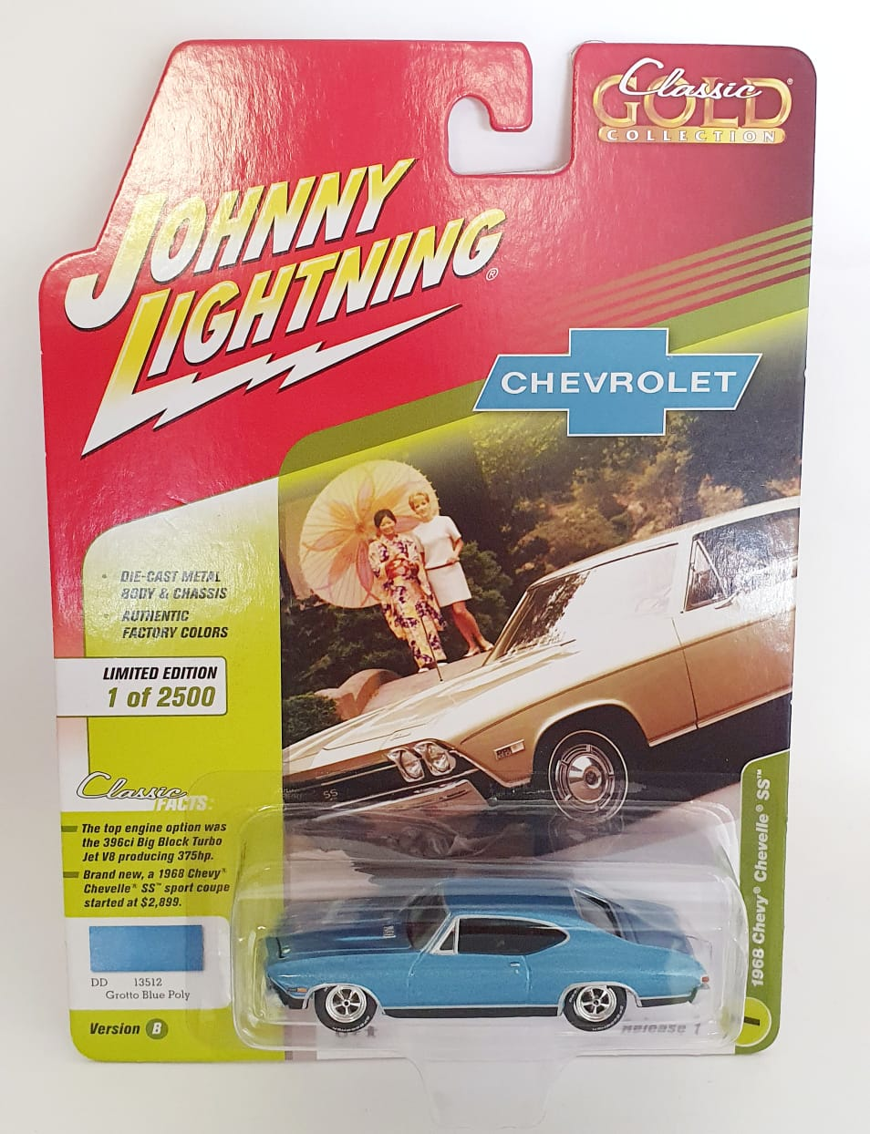 Miniatura Chevrolet Chevelle SS 1968 Classic Gold 1/64 Johnny Lightning