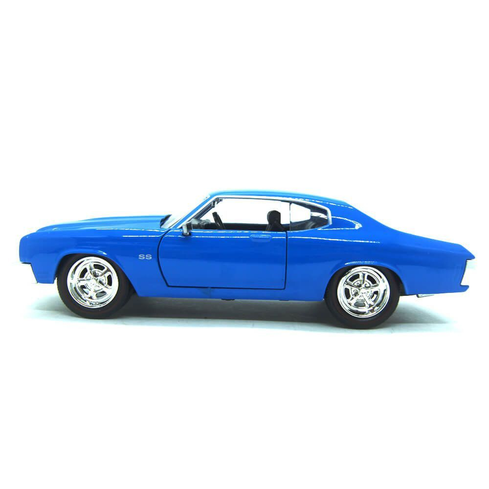 Miniatura Chevrolet Chevelle SS 1970 Azul Big Time Muscle 1/24 Jada Toys