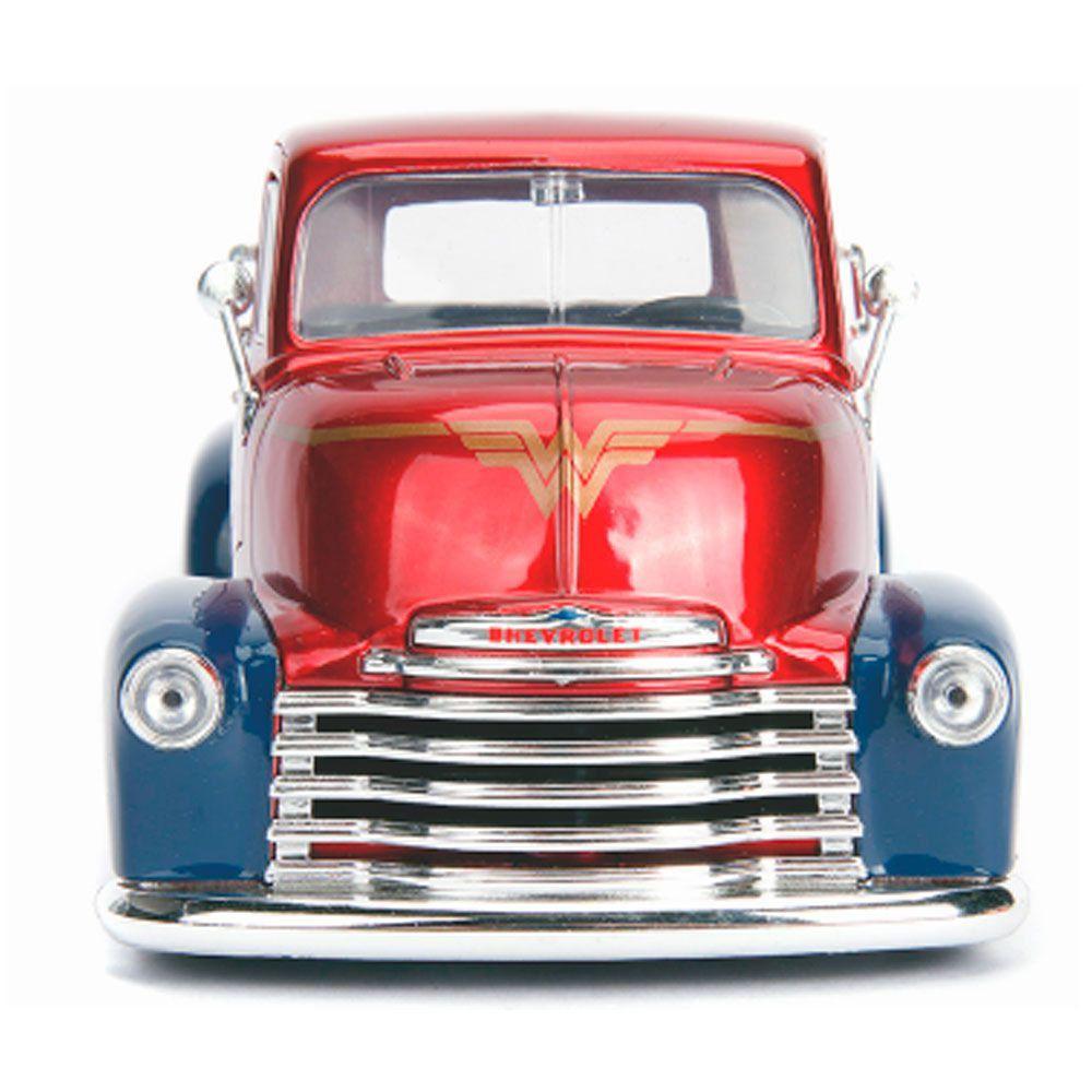 Miniatura Chevrolet Coe 1952 Mulher Maravilha boneco 1/24 Jada Toys