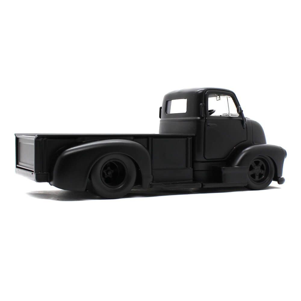 Miniatura Chevrolet Coe Pickup 1952 Preto Fosco 1/24 Jada Toys Just Trucks