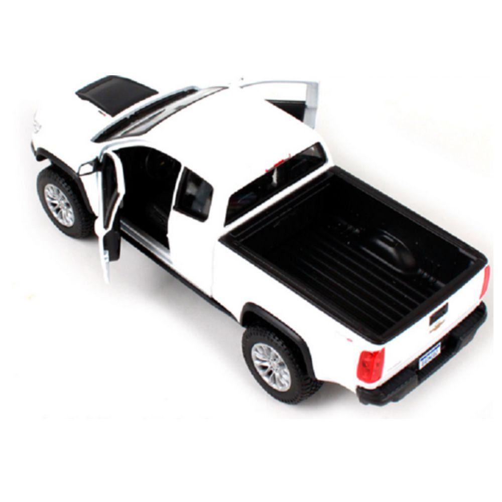 Miniatura Chevrolet Colorado ZR2 2017 Branca 1/24 Maisto Special Edition