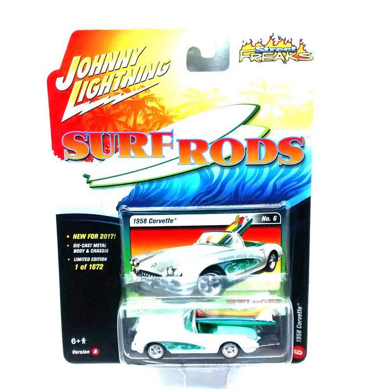 Miniatura Chevrolet Corvette 1958 Surf Roads A 1/64 Johnny Lightning