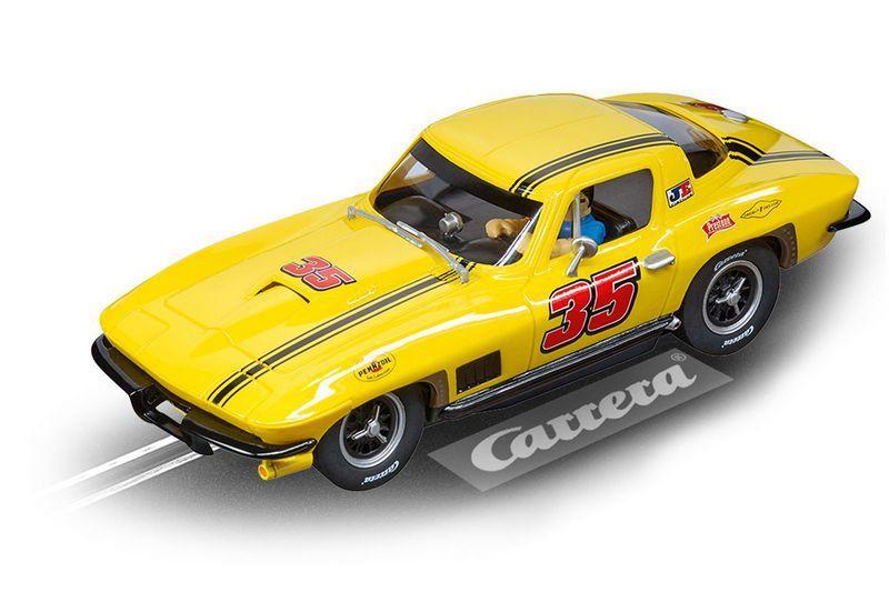 Miniatura Chevrolet Corvette Sting Ray Nº35 Pista Eletrica Carrera 1/32