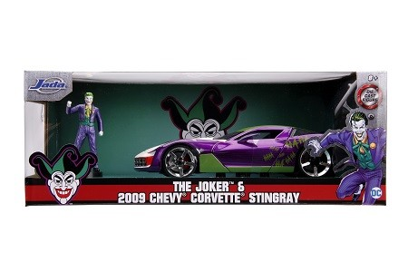 Miniatura Chevrolet Corvette Stingray 2009 Coringa com Boneco 1/24 Jada Toys