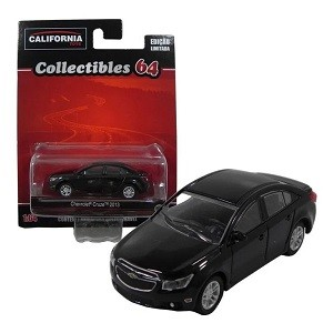 Miniatura Chevrolet Cruze 2013 Preto 1/64 California Collectibles